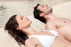 Summer sunbath Stock Images