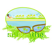 Summer sunbathe card Royalty Free Stock Images