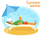 Summer sunbathe Stock Photos