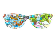 Summer sunglasses design vector illustration Stock Image
