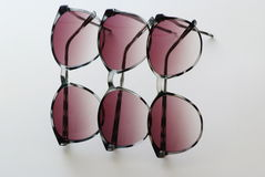 Summer sunglasses multiplied in a soft focus Stock Images