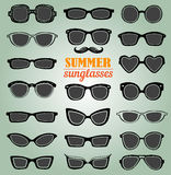 Summer sunglasses vector set Stock Image