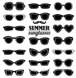 Summer sunglasses vector set Royalty Free Stock Photos