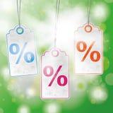 Summer Sunlight Bokeh Price Stickers Percent Royalty Free Stock Image