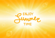 Summer sunny background Royalty Free Stock Photo