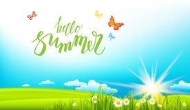 Summer sunny banner Royalty Free Stock Images