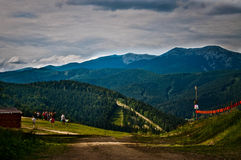 Summer sunny day in the mountains. Royalty Free Stock Photography