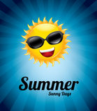 Summer sunny day. Over blue background vector illustration Royalty Free Stock Image