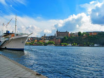 Sunny day in Stockholm Stock Photography
