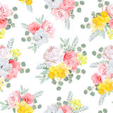 Summer sunny floral seamless vector pattern Royalty Free Stock Photos