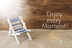 Summer Sunny Greeting Card And Quote Enjoy Every Moment Royalty Free Stock Photo