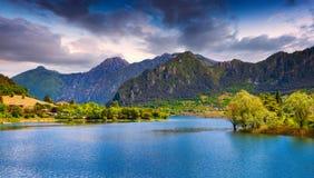 Summer sunny morning on the lake Idro Royalty Free Stock Image