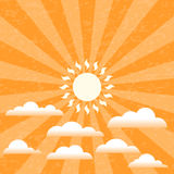 Summer Sunny Sky. Against a grunge patterned background. EPS10  with layer transparency Royalty Free Stock Photos