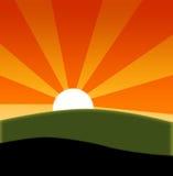 Summer sunrise Stock Images