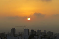 Summer sunrise in a city Royalty Free Stock Images