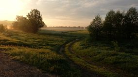 Sunrise in Kruchik, near Bohoduhiv, Kharkiv oblast Royalty Free Stock Images