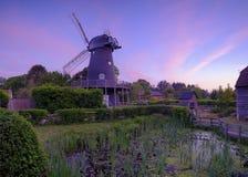 Summer sunrise over Bursledon Windmill, Hampshire, UK stock images