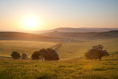 Summer sunrise over English countryside Royalty Free Stock Photos