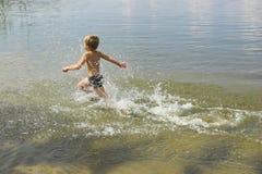 Summer sunsen on the sea stock photos