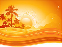 Summer sunset royalty free illustration