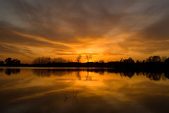 Summer sunset stock image