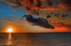 Summer sunset Royalty Free Stock Photography