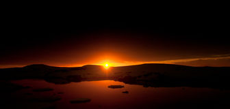 Summer  sunset in Antarctica Stock Images