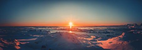 Summer sunset in Antarctica Stock Photos