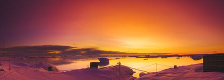 Summer sunset in Antarctica Royalty Free Stock Image