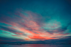 Summer sunset in Antarctica Royalty Free Stock Images