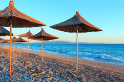 Summer sunset beach Albania. Royalty Free Stock Photos