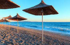 Summer sunset beach Albania. Royalty Free Stock Images