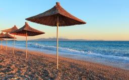 Summer sunset beach Albania. Royalty Free Stock Photography