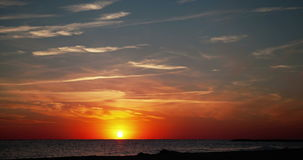 Summer Sunset with Cirrus Clouds Timelapse. Amazing summer Sunset with Cirrus Clouds Timelapse 4k stock video