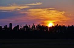 Summer sunset Royalty Free Stock Image