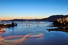 Summer sunset at English Bay Stock Photography