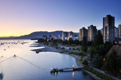 Summer sunset at English Bay Stock Image