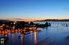 Summer sunset at English Bay Royalty Free Stock Image