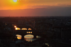 Summer Sunset in Florence Italy Royalty Free Stock Photography