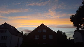 Summer sunset in germany Royalty Free Stock Images