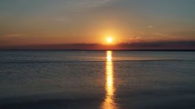 Summer sunset on the gulf of finland on baltic sea Royalty Free Stock Image