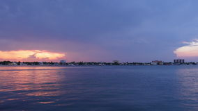 Summer sunset gulf panorama thunderstorm sky 4k time lapse florida usa. Usa summer sunset gulf panorama thunderstorm sky 4k time lapse florida stock video