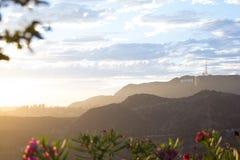 A summer sunset at Hollywood Stock Photos