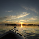 Summer Sunset Kayaking Royalty Free Stock Photos