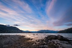 Summer Sunset at Lake Wanaka Stock Photography