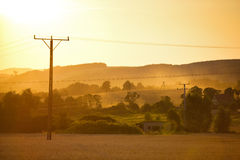 Summer sunset landscape Royalty Free Stock Photo