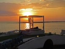 Summer sunset stock photos