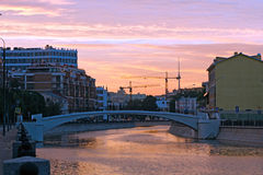 Summer sunset on the Moskva river Stock Photography