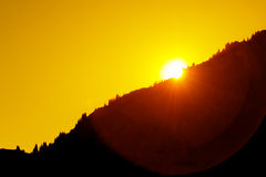 Summer sunset on the mountainside Royalty Free Stock Photos