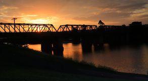 Summer sunset Nepean River Penrith Royalty Free Stock Images